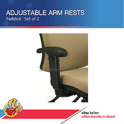 Office Chair Adjustable Arm Rests, Height Adjustable Arms, Desk Chair Arms, Pad