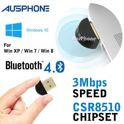 V4.0 Mini USB 2.0 Bluetooth Dongle Wireless Adapter For PC Laptop 3Mbps Speed