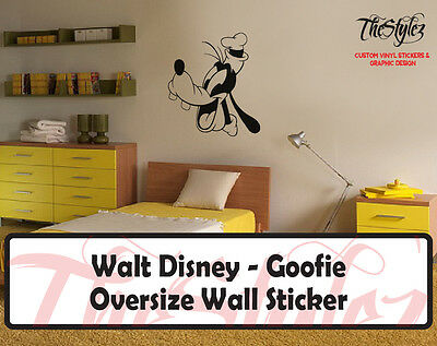 Walt Disney - Goofie Cartoon Logo Wall Vinyl Sticker