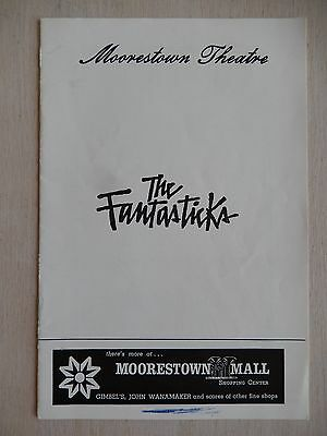 1973 - Moorestown Theatre Playbill - The Fantasticks - Marty Richards