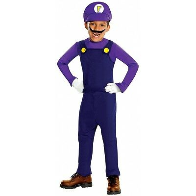 Waluigi Costume Deluxe Waluigi Costume Mario Brothers Halloween Fancy Dress