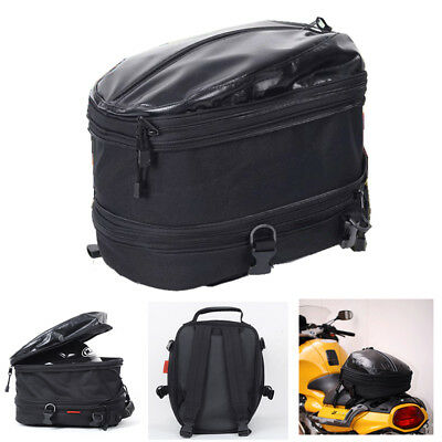Motorcycle  Scooter Bicycle Sissybar Rack Tail Bag Saddle Luggage Expendable