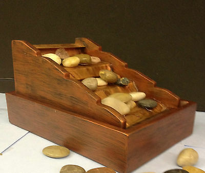 Copper Steps Indoor Self Contained Table Top Water Feature Fountain