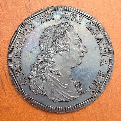 1808 Bermuda  Retro Pattern Proof Crown Bronzed Copper George III  Coin
