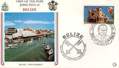Belize - Visit Of Pope John Paul Ii° - 1983 - Rara Busta Filatelica