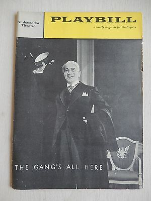 January 1960  - Ambassador Theatre Playbill - The Gang's All Here - Douglas