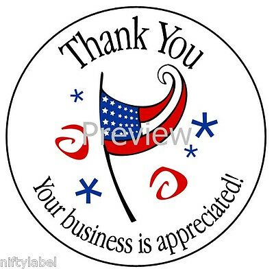 American Flag & Stars #15 Thank You Sticker Labels