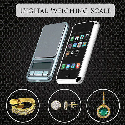NEW WEIGHING MINI POCKET DIGITAL SCALES 0.1G ACCURACY 500G CAPACITY iPHONE