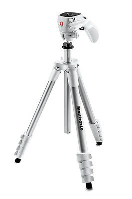 Manfrotto Compact Action Aluminum Tripod (White)