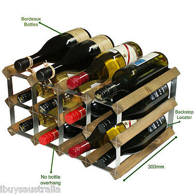 Traditional Wine Rack Company 300mm Depth 12 Bottle Assembled TWC12AR300