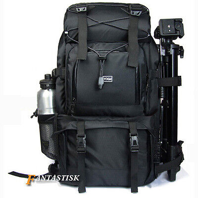 "Professional Waterproof DSLR Camera Backpack Shoulder Bag 17"" Laptop Rucksack Ne"