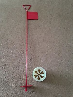 3 x Metal Professional JL Golf Putting Green Flag and Hole Cup 90cm