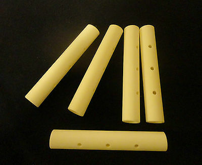 HIGH PURITY ALUMINA CERAMIC  TUBE STOCK WITH  HOLES -ONE COUNTERBORED  No.: 13
