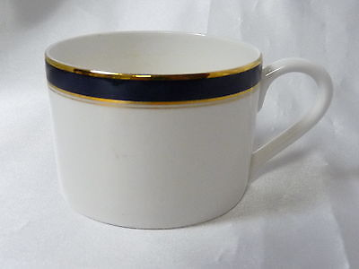 Towle Silversmiths Fine Bone China Colonnade Blue Flat Coffee Tea Cup