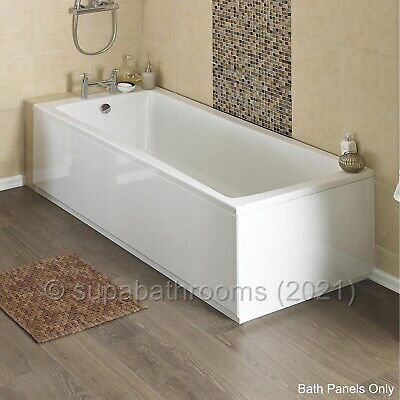 MDF High Gloss White Wooden Bath Adjustable Panel & Plinth Front End Many Sizes