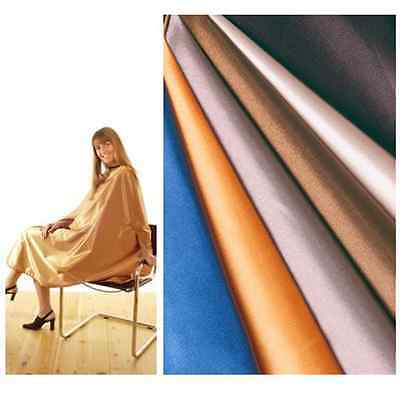 Hair Tools Salon Hairdressing Cutting Gown Satin Copper Adult Fully Adjustable