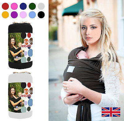 Baby Sling Stretchy Wrap Carrier Premium Breastfeeding Birth To 3Yrs 100% Cotton