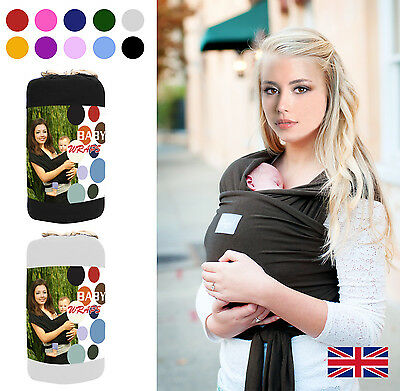 Baby Wrap Sling Stretchy Carrier with carry case 0-3years+1 pair of free socks