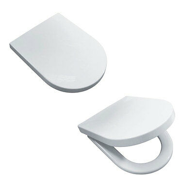 Luxury Soft Close Heavy Duty D-Shape Toilet Seat With Top Fixing Easy To Install