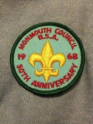 1968 Monmouth Council Patch 50th Anniversary BSA