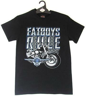 Harley Davidson Platinum Fatboys Fat Boys Rule Mens Short Sleeve T Shirt Tshirt