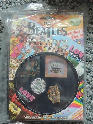 The Beatles Collectable Pin Set
