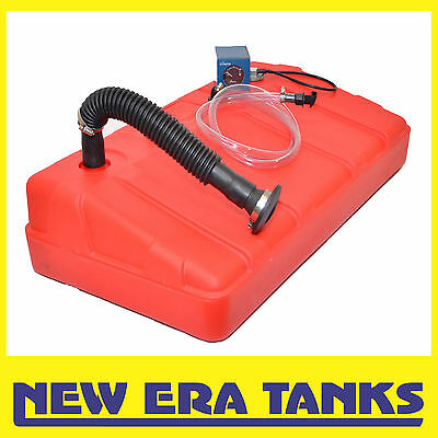 50L - Petrol tank - 38mm moulded filler, filler kit, breather kit, sender, gauge