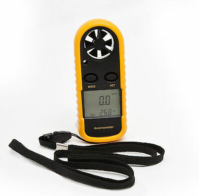 DIGITAL HANDHELD ANEMOMETER Wind Speed Meter Thermometer