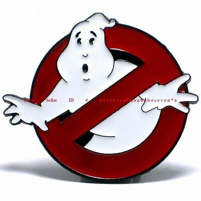 Hbu0985 Paranormal Ghost Capturers Ghostbusters Prohibition Sign Belt Buckle