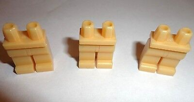 3 Lego Pearl light Gold Plain Legs parts For Star Wars City Minifigure Lot New