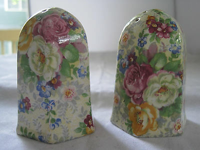 Lord Nelson Rose Time English Chintz Salt And Pepper Shakers
