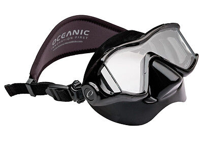 Oceanic ION3x Scuba Diving, Free Diving, Snorkeling Mask BK/BK