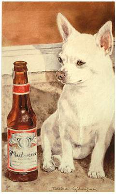 Chihuahua Smooth Coat Mexican Dog Fine Art Limited Edition Print
