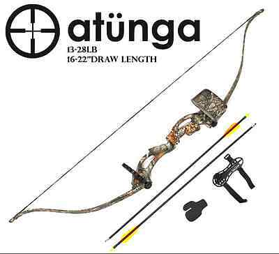 "NEW Kids Recurve Youth Bow & Arrow Archery Set Target Longbow ""Sergeant"""