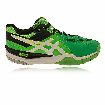 ASICS Mens GEL BLAST 6 Green Netball Badminton Indoor Court Sport Trainers Shoes