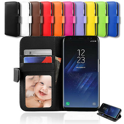 NEW Flip Leather Wallet Stand Case Cover for Samsung Galaxy S8+ S7 S7 Edge S6 AU