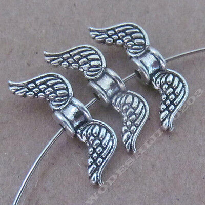 20pc Retro Tibetan Silver Angel wings Spacer Beads Jewelry Findings NEW BO234P