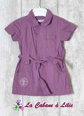 ♥ Robe Violet Manche Courte Doublée IN EXTENSO 6 Mois ♥ G48