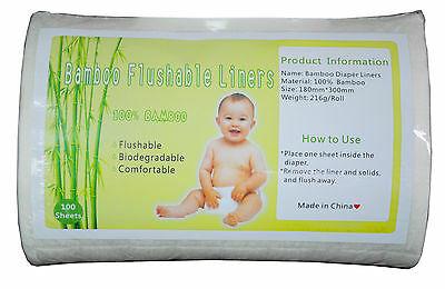 Alva Biodegradable Flushable Diaper Liner 100 sheet In One Roll for Cloth Diaper