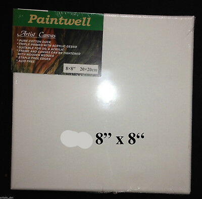 "Artist Canvas 30 x 8""x 8""  3/4"" Thick Canvas Panels Stretched Canvas Acid Free"