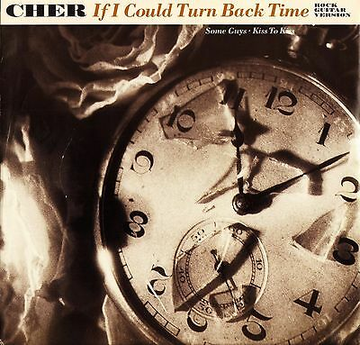 """CHER if i could turn back time GEF59T uk geffen 1989 12"""" PS EX/EX"""
