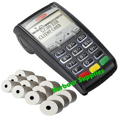 Ingenico iCT220 iCT-220 Credit Card Terminal / Chip & Pin Rolls Thermal PDQ Roll