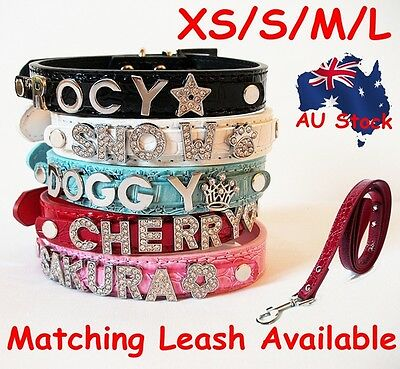 Crocodile Skin Personalised PU Leather Dog Cat Collar Matching Leash Available