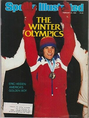 Sports Illustrated February 25, 1980 Eric Heiden VG-EX Condition