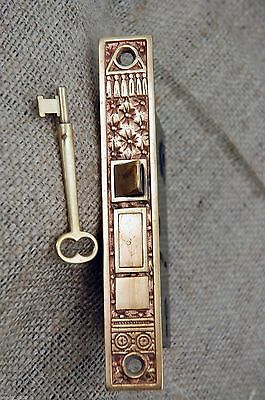 Antique Corbin Mortise Lock Pin and Cushion Design Cast Bronze Circa 1880's