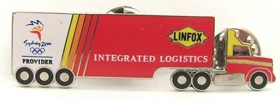 Linfox Truck Provider Logistics Sydney Olympic Games 2000 Pin Badge Collect #187