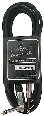 Artist GX10R 10ft (3m) Deluxe Guitar Cable/Lead - 1 Right Angle - New