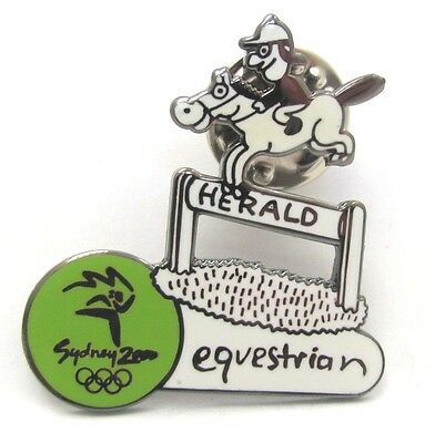 Equestrian Herald Cartoon Sydney Olympic Games 2000 Pin Badge Collect #195