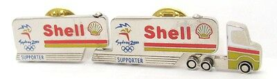Shell Fuel Truck Moving Wheels Sydney Olympic Games 2000 Pin Badge Collect #201