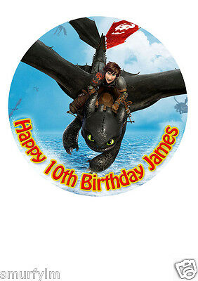 How to train your dragon cake topper personalised edible birthday how to train your dragon cake topper party personalised icing sugar 75 img d30 ccuart Gallery